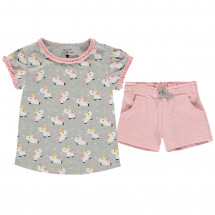 Crafted - Infant Girls T Shirt and Shorts Set