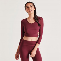 Tričko SportFX - Long Sleeve Crop Top Ladies