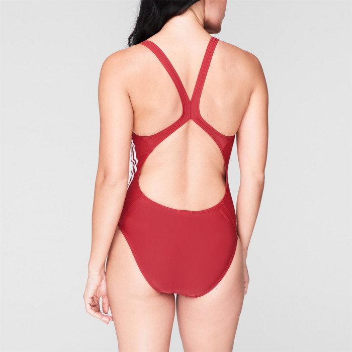 Adidas - adidas Womens Fit 3-Stripes Swimsuit