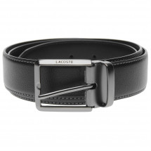 Lacoste - Engraved Buckle Leather Belt