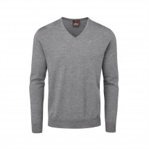Svetr Oscar Jacobson - Pin Merino V-Neck Sweater